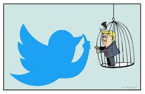Trump is sanctioned by Twitter