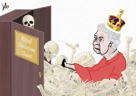 cartoon by emanuele del rosso about uk royal family