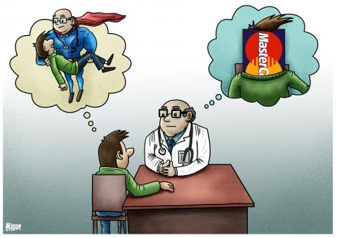 Cartoon about the cost of healthcare