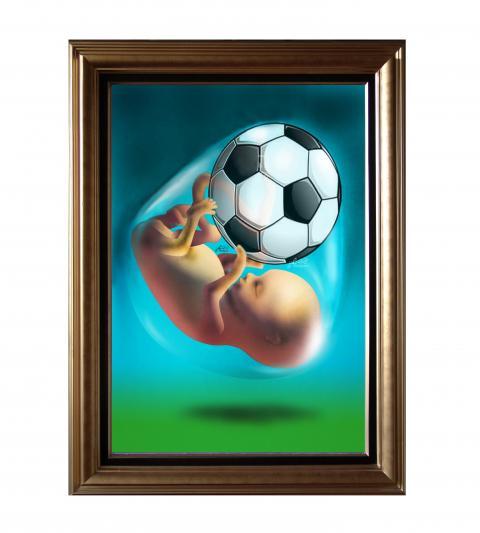 The football fetus by Ali Divandari