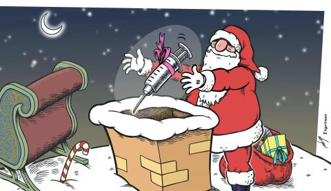 Covid-19 vaccines arrive on Christmas