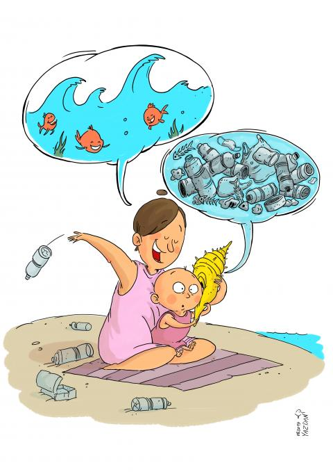 oceans of plastics will be one of our heritages for our children...