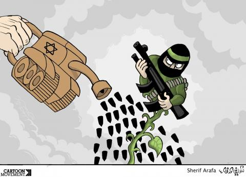 Cartoon about Israel and Palestine