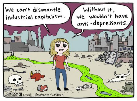 Cartoon about capitalism