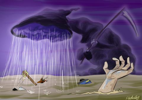 Cartoon about extreme weather