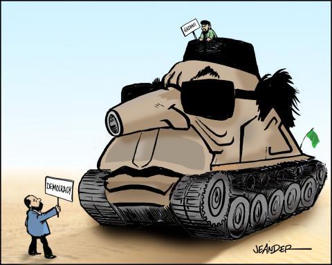 Catoon about Gaddafi