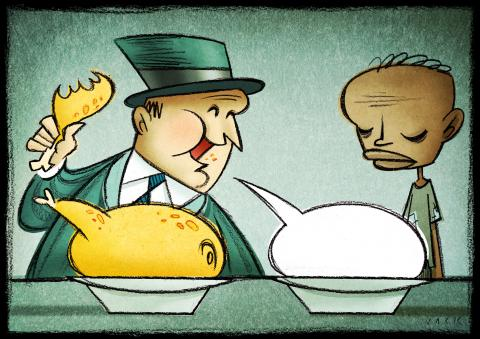 Cartoon about hunger