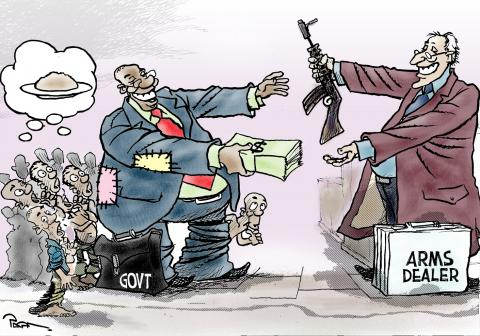 Cartoon about the arms trade
