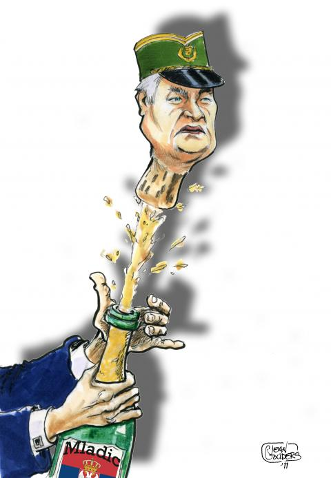 Cartoon about Mladic