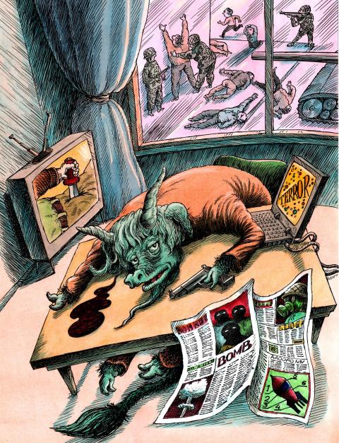 Cartoon about violence