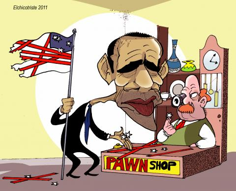 Cartoon about Obama