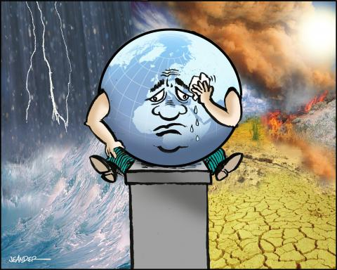 Cartoon about planet earth