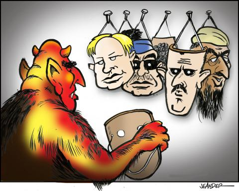 Cartoon about evil world leaders