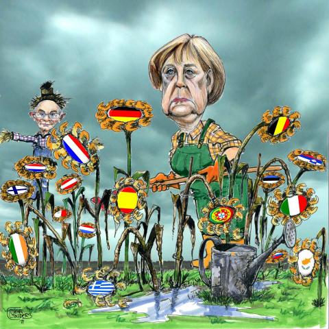 Cartoon about the euro