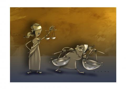 Cartoon about justice and inequality