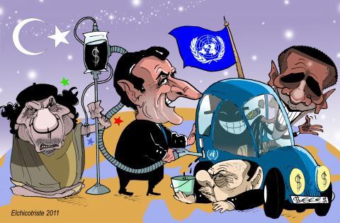 Cartoon about Libya