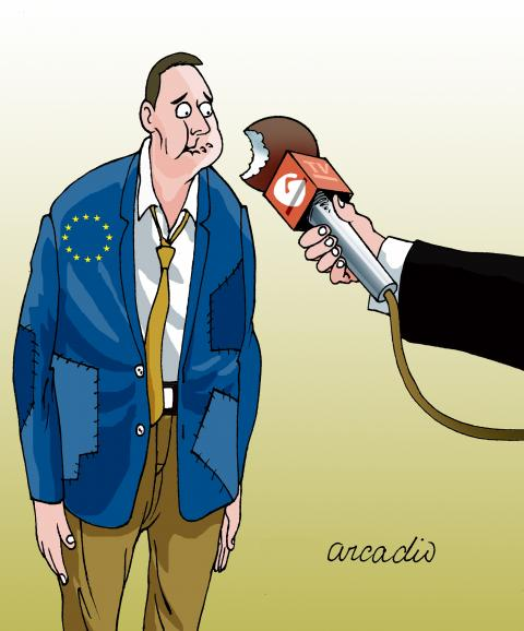 Cartoon about crisis in Europe
