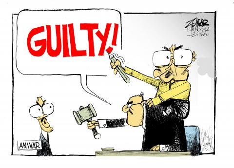 Cartoon about power abuse in Malaysia