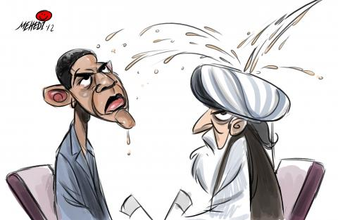 Cartoon about Obama and the Taliban