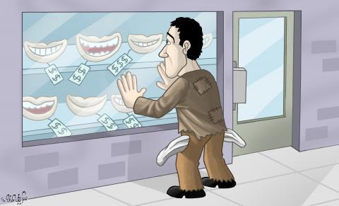Cartoon about economic crisis