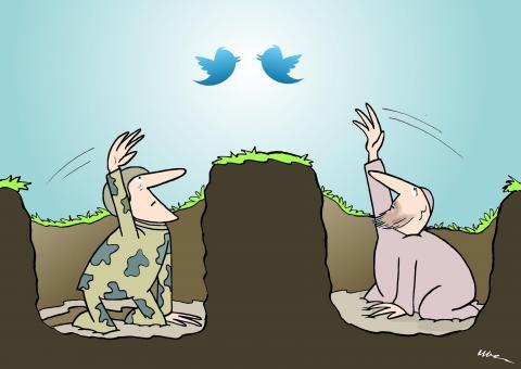 Cartoon about dialogue