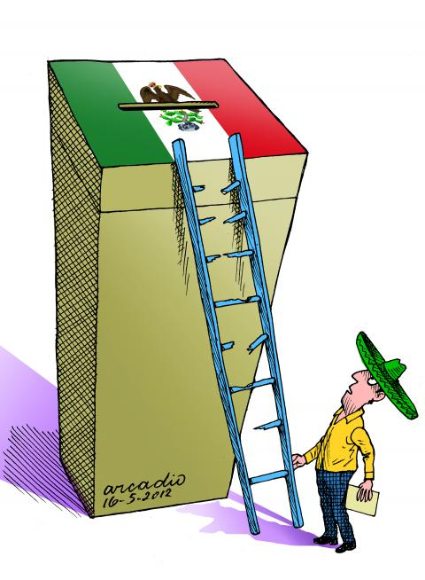 Cartoon about Mexican elections