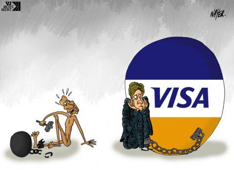 Cartoon about debt