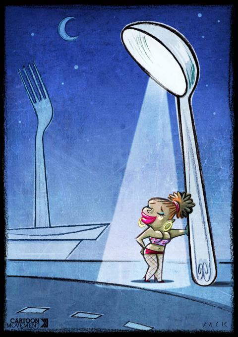 Cartoon about hunger and poverty