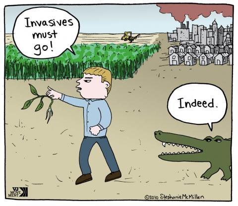 Cartoon about invasive species