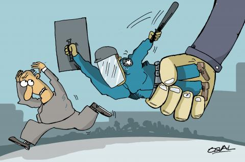 Cartoon about police brutality