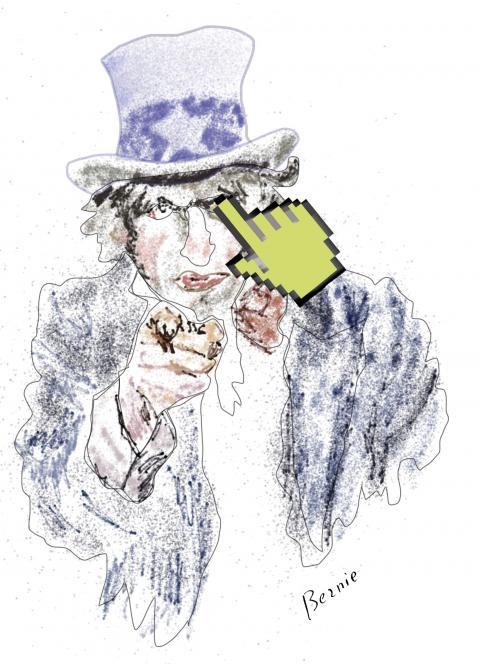 Cartoon about cyber warfare