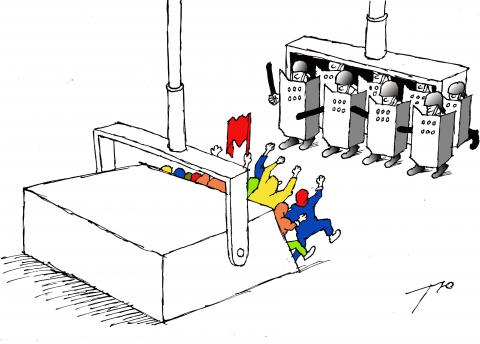 Cartoon about protests