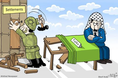 Cartoon about Palestine and Israel