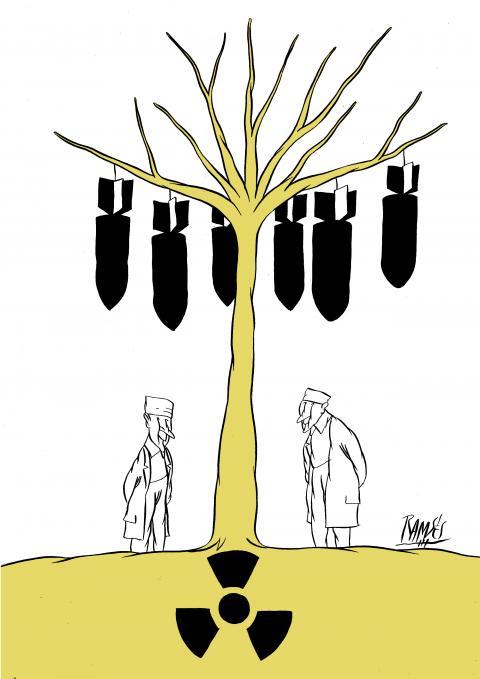 Cartoon about nuclear talks