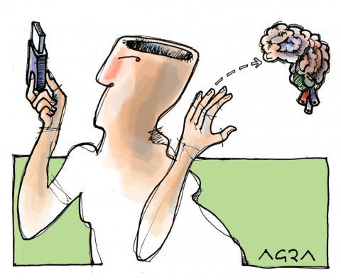 Cartoon about technology