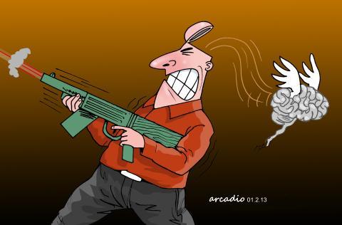 Cartoon about senseless violence