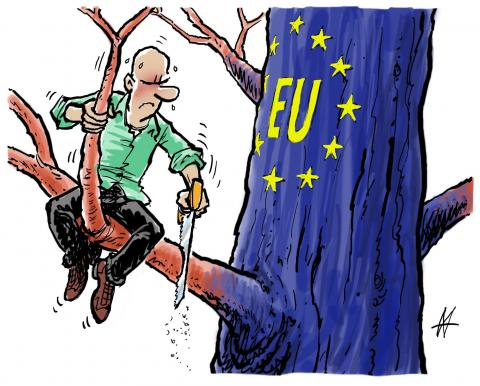 Cartoon about Europe
