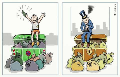 Cartoon about wealth and poverty