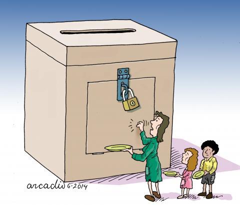 Cartoon about democracy