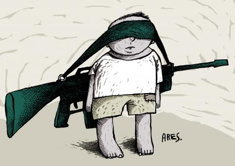 Cartoon about child soldiers