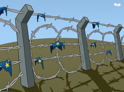 Cartoon about borders