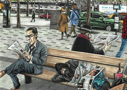 Cartoon about the homeless