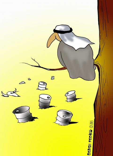 Cartoon about oil