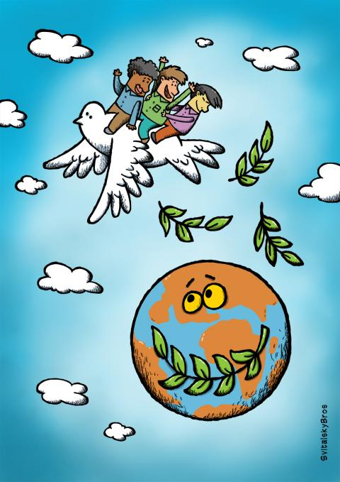 Cartoon about peace