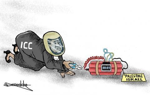 Cartoon about Palestine.