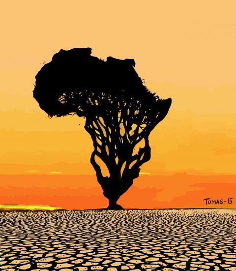 Cartoon about Africa