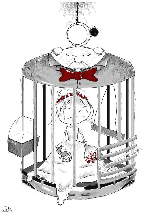 Cartoon about child marriage