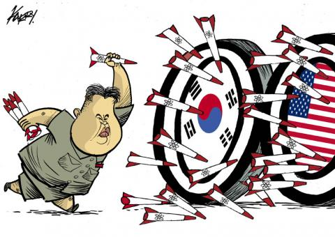 Cartoon about North Korea