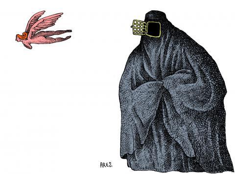 Cartoon about the burqa