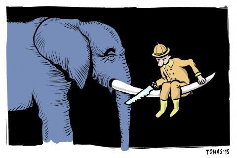 Cartoon about poaching